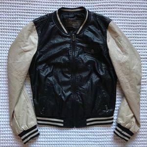 NWOT Ci Sono Faux Leather Varsity Jacket